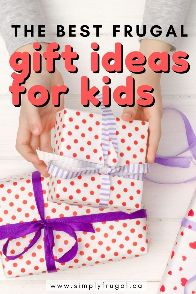 Fun, frugal gift ideas for kids that are $30 or less! Perfect for Christmas, birthdays or just-because. There's something for everyone!