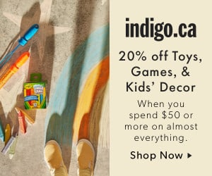 Chapters Indigo: Save 20% off Toys with $50 Purchase