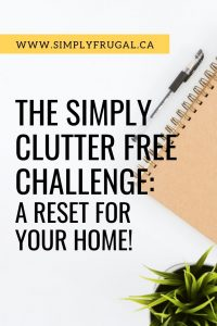 Announcing the Simply Clutter Free Challenge! A month of daily tasks to help reset your home! #declutter #organization