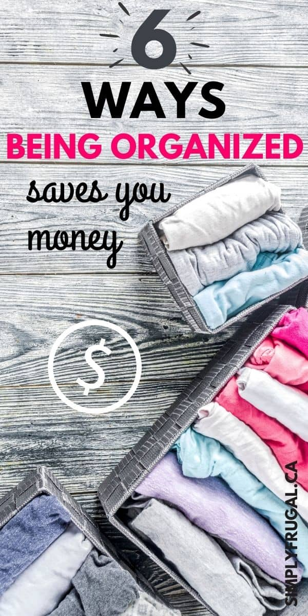 The more I think about it, I really think that being organized is the key to saving money. Not only does mysanity thrive when things are organized, I find our bank account is happier too. Here are 6 ways being organized can help you save money.