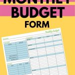If you are struggling with getting your budget under control, then you'll want to download this free monthly budget form right away!