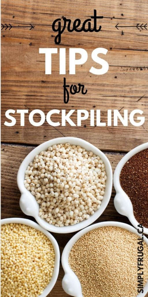 These are fantastic tips for creating a stockpile that won't leave you broke or with food you won't eat!