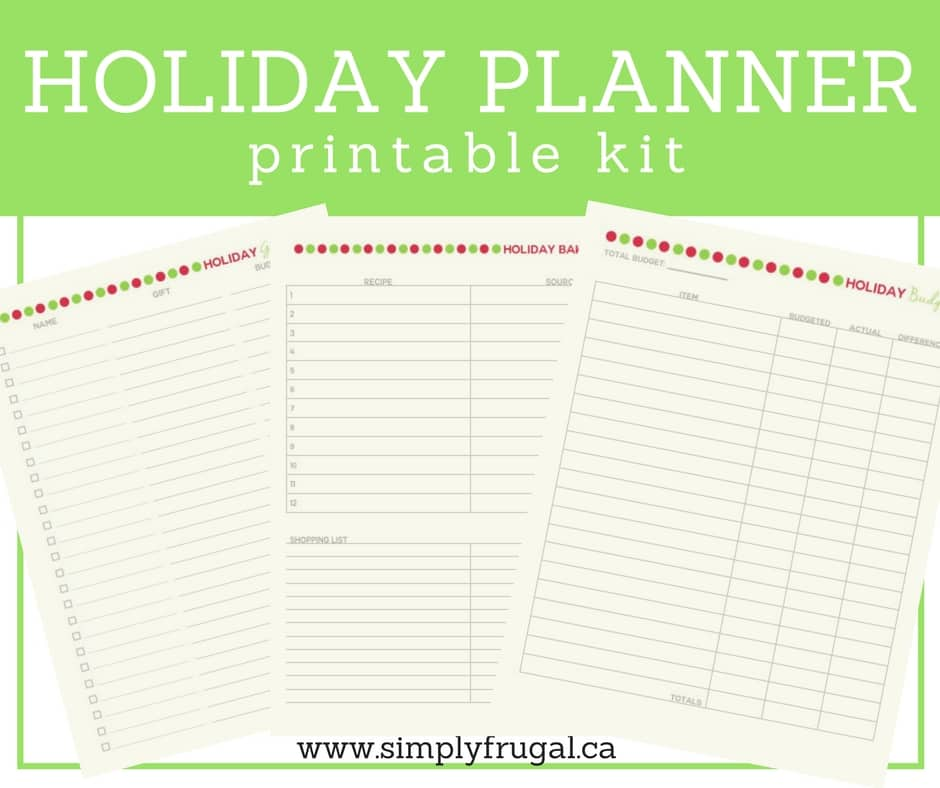 Tired of holiday chaos? This holiday planner will keep you on track and in charge of your holidays, instead of the holidays taking charge of you!
