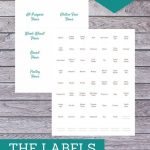The labels included in this kit are meant for labeling your pantry staples, spices and freezer meals. With over 100 labels, here's to a pretty, organized kitchen!